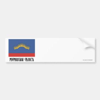 Bandera de Murmansk Oblast Etiqueta De Parachoque