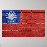 Bandera de Myanmar Impresiones
