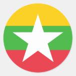 Bandera de Myanmar Pegatinas Redondas