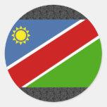 Bandera de Namibia Etiqueta