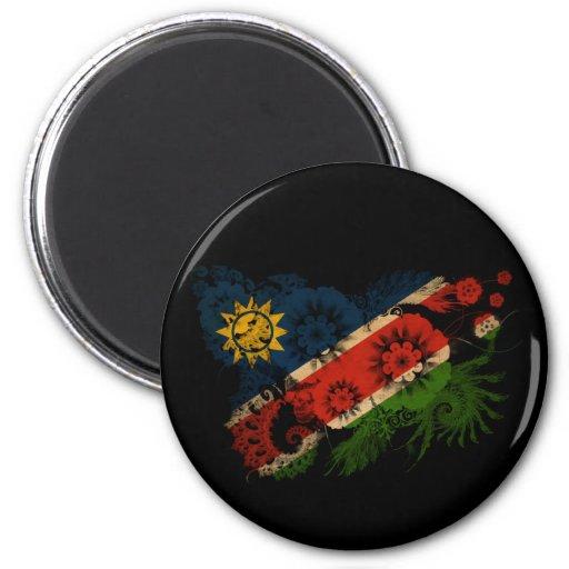 Bandera de Namibia Imán Redondo 5 Cm