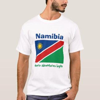 Bandera de Namibia + Mapa + Camiseta del texto