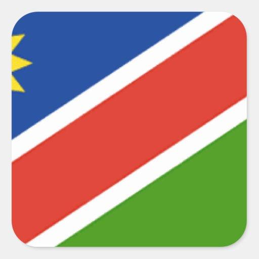 Bandera de Namibia Pegatina Cuadrada