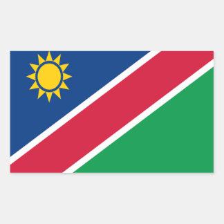 Bandera de Namibia Pegatina Rectangular