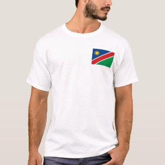 Bandera de Namibia y camiseta del mapa