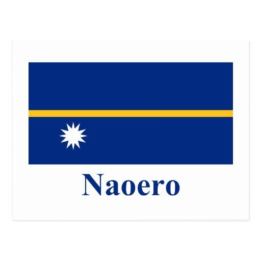 Bandera de Nauru con nombre en nauruano Postales