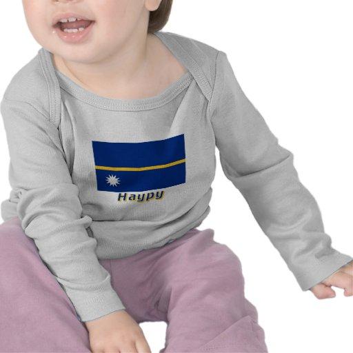 Bandera de Nauru con nombre en ruso Camiseta