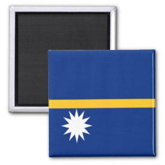 Bandera de Nauru Imán Cuadrado