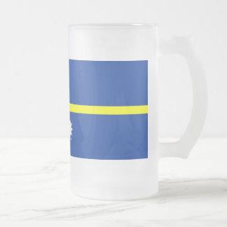 Bandera de Nauru Taza De Cristal
