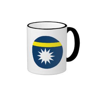 Bandera de Nauru Taza De Dos Colores