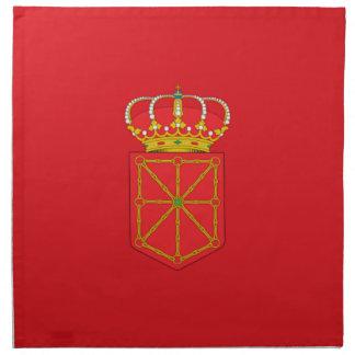 Bandera de Navarra (España) Servilletas De Papel