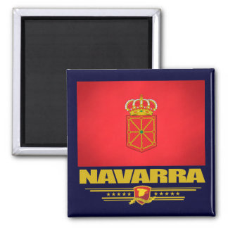Bandera de Navarra (Navarra) Imán Cuadrado