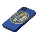 Bandera de Nebraska iPhone 4 Case-Mate Fundas