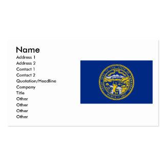 Bandera de Nebraska Tarjetas De Visita