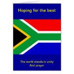 Bandera de Nelson Mandela Suráfrica Tarjeta