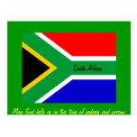 Bandera de Nelson Mandela Suráfrica Tarjeta Postal