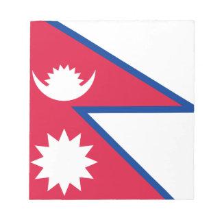 Bandera de Nepal Bloc De Notas