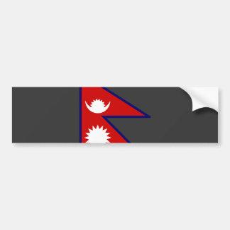 Bandera de Nepal Pegatina Para Auto