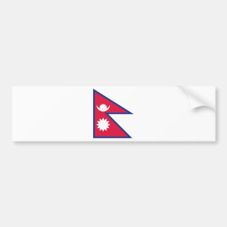 Bandera de Nepal Etiqueta De Parachoque