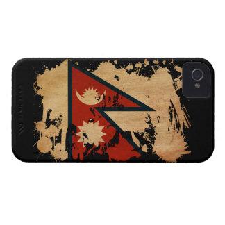 Bandera de Nepal iPhone 4 Case-Mate Carcasas