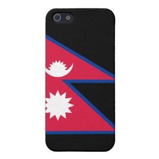 Bandera de Nepal iPhone 5 Carcasas