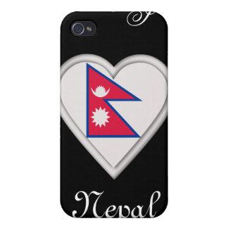 Bandera de Nepal nepalés iPhone 4/4S Funda
