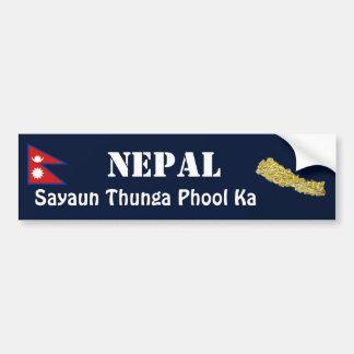 Bandera de Nepal + Pegatina para el parachoques de Pegatina De Parachoque