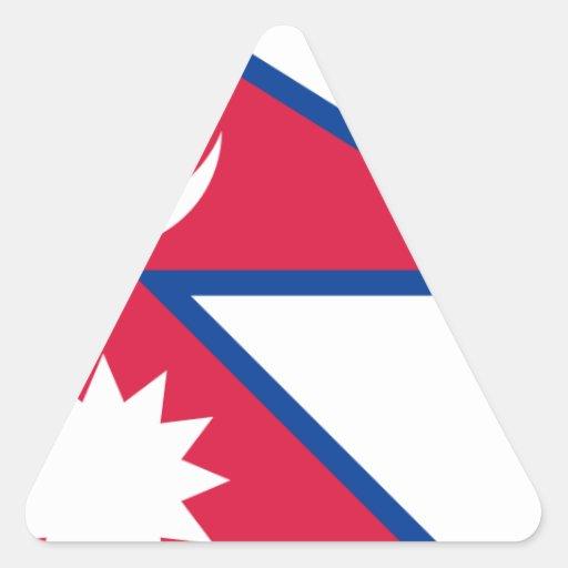 Bandera de Nepal Pegatina Triangular