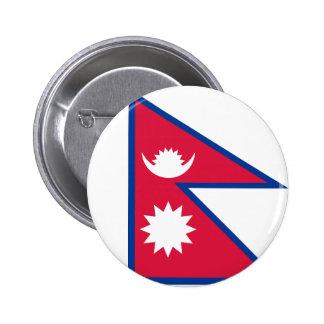 Bandera de Nepal Pin Redondo De 2 Pulgadas