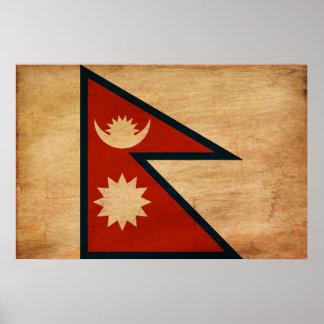 Bandera de Nepal Posters