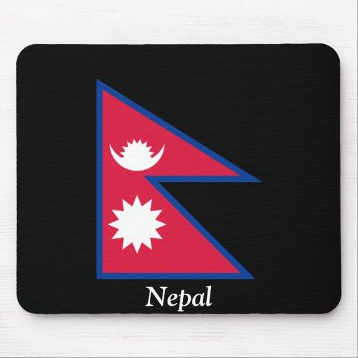 Bandera de Nepal Tapetes De Ratones