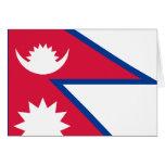 Bandera de Nepal Tarjeta Pequeña