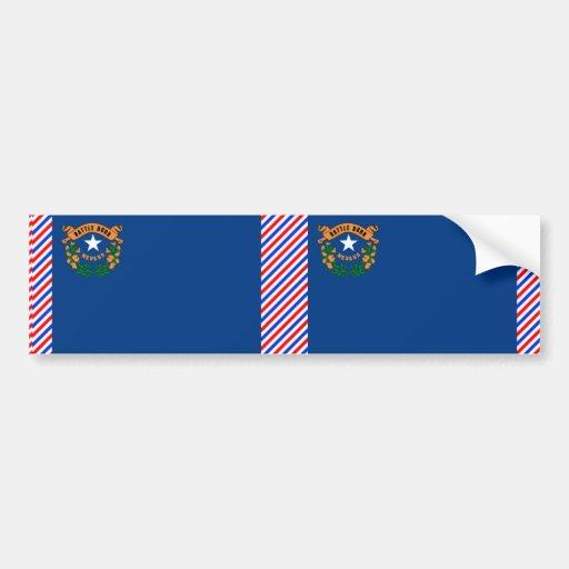 Bandera de Nevada Etiqueta De Parachoque