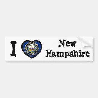 Bandera de New Hampshire Pegatina Para Auto
