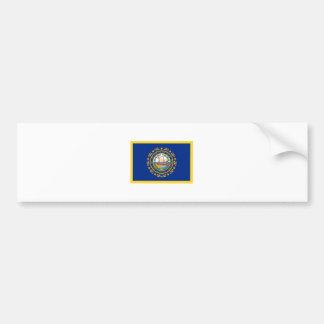 Bandera de New Hampshire del borde del oro Pegatina Para Auto