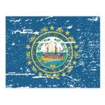 Bandera de NEW HAMPSHIRE del vintage Tarjeta Postal