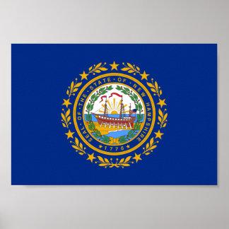 Bandera de New Hampshire Póster