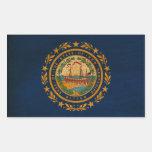 Bandera de New Hampshire Rectangular Pegatina