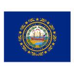 Bandera de New Hampshire Tarjeta Postal