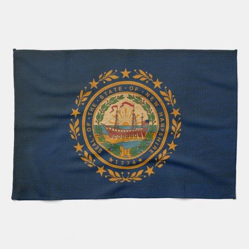 Bandera de New Hampshire Toalla De Mano