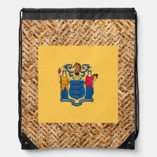Bandera de New Jersey en la materia textil Mochila
