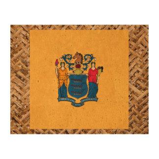 Bandera de New Jersey en la materia textil Impresión En Corcho