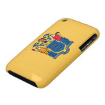 Bandera de New Jersey iPhone 3 Case-Mate Coberturas