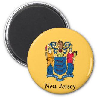 Bandera de New Jersey Imán Para Frigorífico