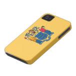 Bandera de New Jersey iPhone 4 Case-Mate Carcasas