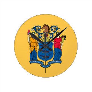 Bandera de New Jersey Reloj De Pared