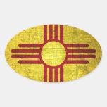 Bandera de New México Colcomanias De Oval