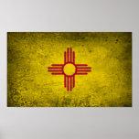 Bandera de New México del poster
