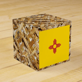 Bandera de New México en la materia textil Cajas Para Regalos De Boda