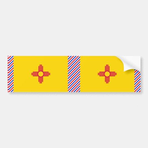 Bandera de New México Etiqueta De Parachoque